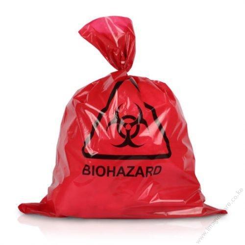 Red-Disposal-Medical-Biohazardous-Waste-Trash-Plastic-Packaging-Bag in kenya