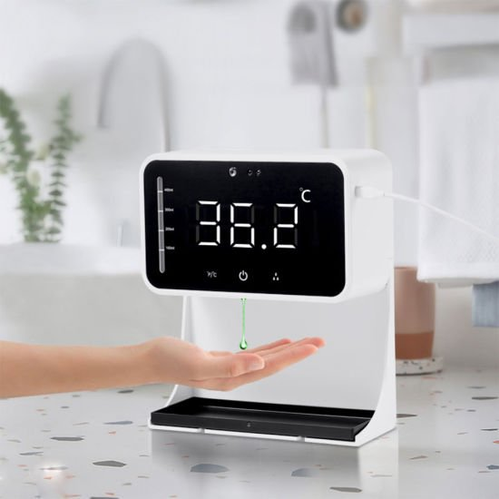 2-in-1-IR-Thermometer-Lk-90-Automatic-Soap-Dispenser-Touch-Less-Temperatures-Measurement-and-Disinfection-Integrated-Machine